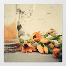 Tulips of orange Canvas Print