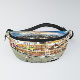 Teignmouth Water Paint Fanny Pack
