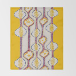 Stitches - Growing bubbles Throw Blanket