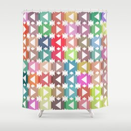 Pastel geometry Shower Curtain