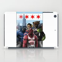 sports iPad Cases featuring Chicago Sports by Carrillo Art Studio