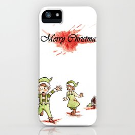 Honey Badger Christmas Elves iPhone Case
