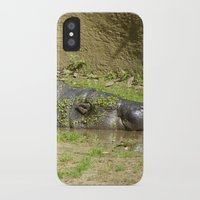 hippo iPhone & iPod Cases featuring hippo by Mathilde Nieuwenhuis