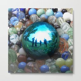 Magic Blue Marble Metal Print