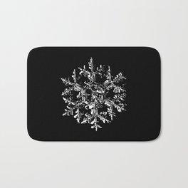 Snowflake vector - Gardeners dream black Bath Mat