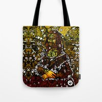 mona lisa Tote Bags featuring #MONA #LISA by JOHNF