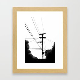 Power Lines at the bluff Framed Art Print