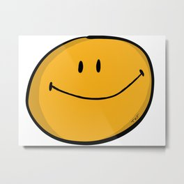 Classic Smiley Metal Print