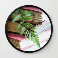 study Wall Clocks featuring Botany Study by Colleen Farrell