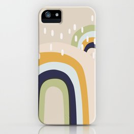 Abstract Stormy Rainbow I iPhone Case