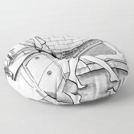 A solas 9 Floor Pillow