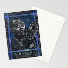 Louis Armstrong in Blue Stationery Cards