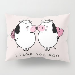 I Love You Moo Pillow Sham