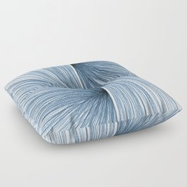 Indigo Blue Mid Century Modern Geometric Abstract Floor Pillow