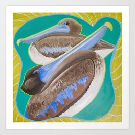 Two Young Pelicans Art Print