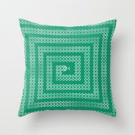 Silver Decorative Geometric Snake Throw Pillow