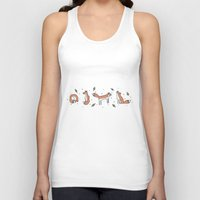 foxes Tank Tops featuring FOXES by Mary Rawlings