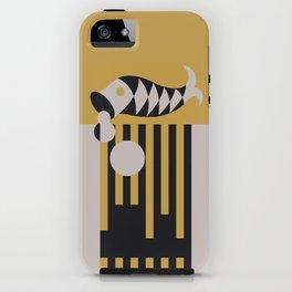 Art Deco Bird & Fish - Hemingway iPhone Case