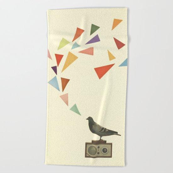Pigeon Radio Beach Towel