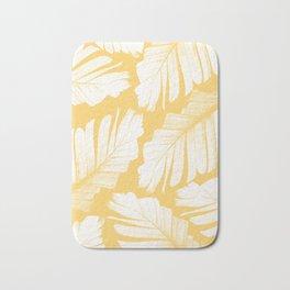 Yellow Banana Leaves Dream #1 #tropical #decor #art #society6 Bath Mat
