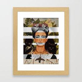"""Frida Kahlo """"Self Portrait with Thorn Necklace"""" & Joan Crawford Framed Art Print"""