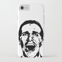 american psycho iPhone & iPod Cases featuring American Psycho by ginaxcuzzilla
