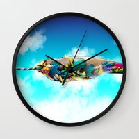 narwhal Wall Clocks featuring Narwhal by Sircasm