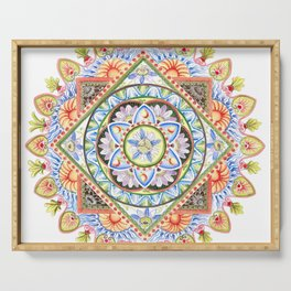 Passion Flower Mandala Serving Tray