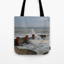 High tide on Cart Gap Beach Tote Bag