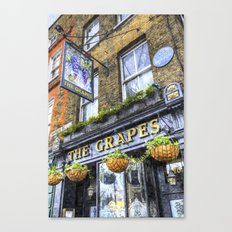 The Grapes Pub London Art Canvas Print