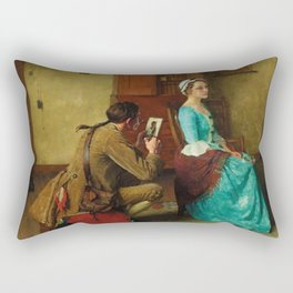 THE SILHOUETTE by NORMAN ROCKWELL Rectangular Pillow