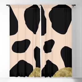 Golden exotics - Cow and soft tangerine Blackout Curtain
