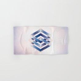 Indigo Hexagon :: Floating Geometry Hand & Bath Towel