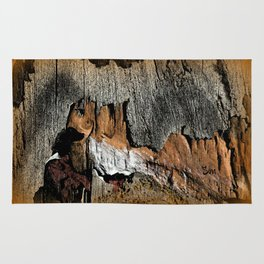 The Little Old Hunter -series with the cave images Rug