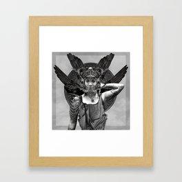 Black Winged Queen Framed Art Print