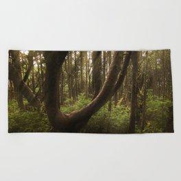 The Twisted Tree Beach Towel