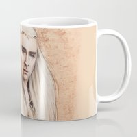 thranduil Mugs featuring thranduil oropherion by LindaMarieAnson