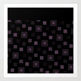 Squares techs Art Print