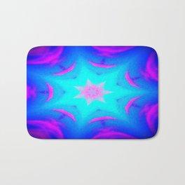 pink & blue starburst Bath Mat