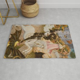 Saint George and the Dragon Medieval Painting Rug