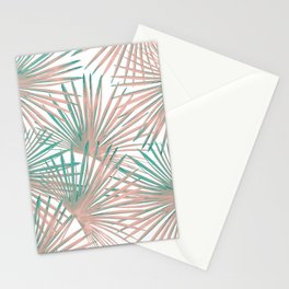 Tropical Fan Palm Leaves #8 #tropical #decor #art #society6 Stationery Cards