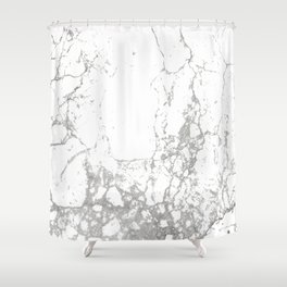 Gray white abstract modern marble pattern Shower Curtain