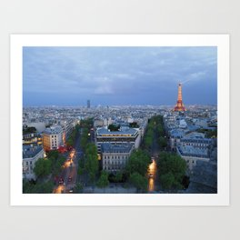 Twilight In Paris Art Print