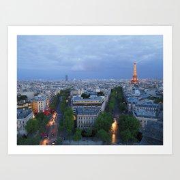 Twilight In Paris Art Print