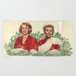 Sisters - A Merry White Christmas Beach Towel