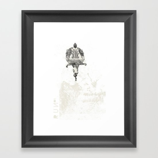 RUN ON Framed Art Print