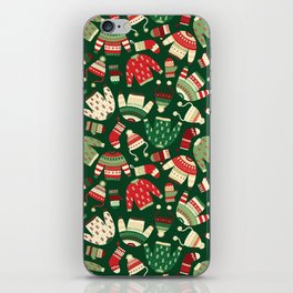 Ugly Christmas Fashion red green white iPhone Skin