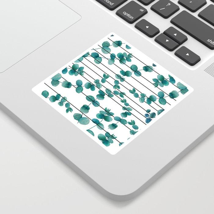 eucalypatus pattern Sticker