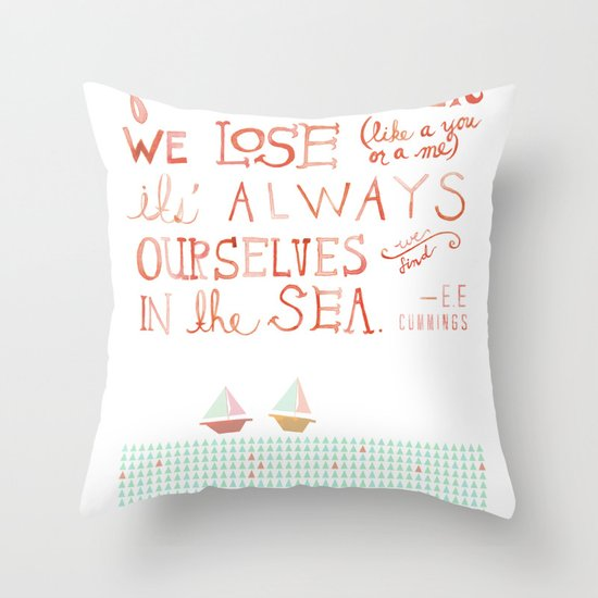 for whatever we lose. .. Throw Pillow