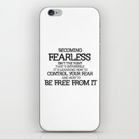 divergent iPhone & iPod Skins featuring BECOMING FEARLESS - Divergent by All Things M